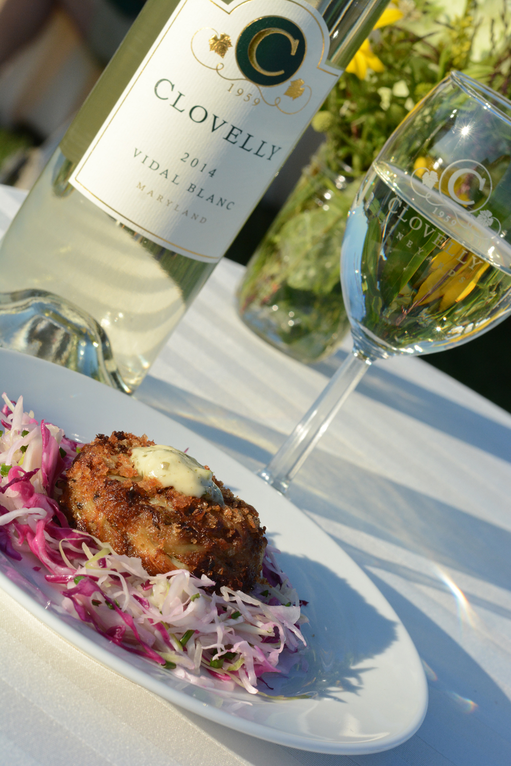 Loblolly Photography Crabcake & Wine