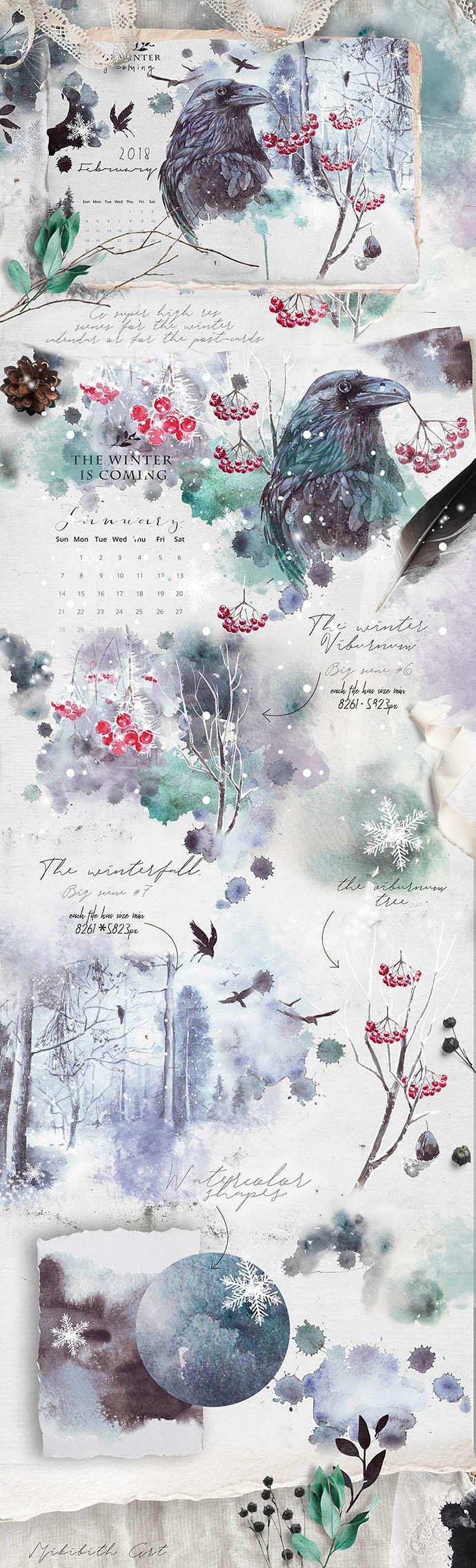 winter calendar 2018 Ravens