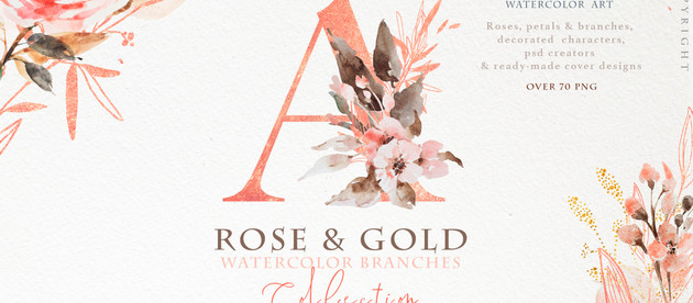 """New """"rose gold wedding collection"""""""