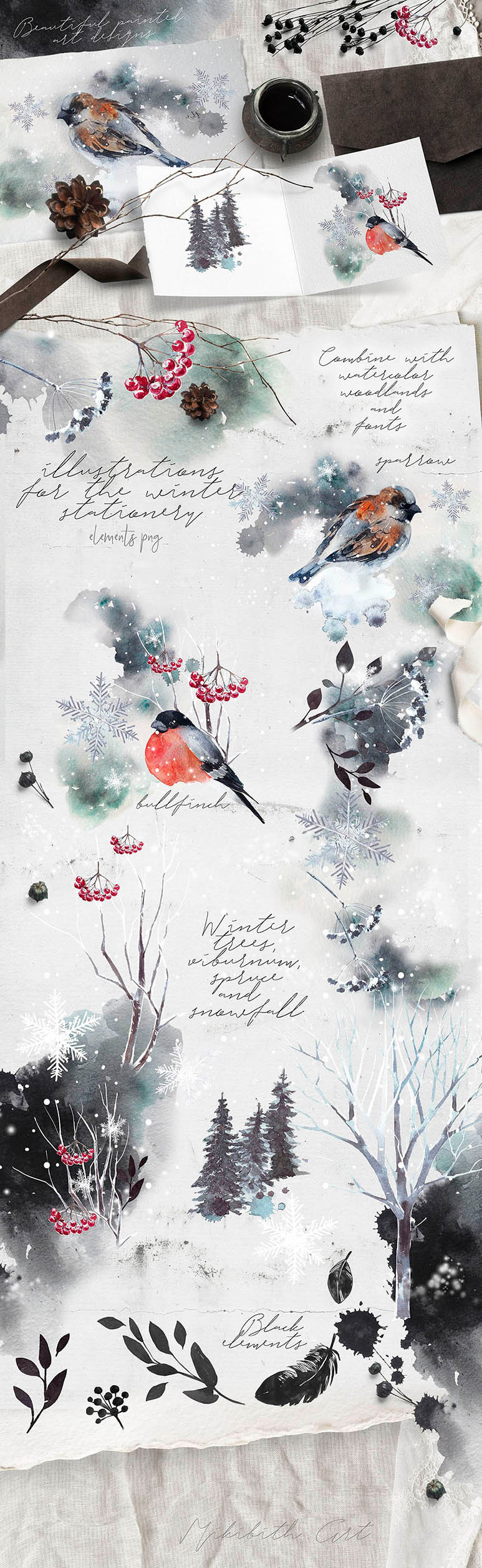 winter stationery designs