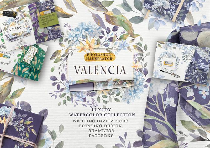 «VALENCIA» luxury watercolor collection