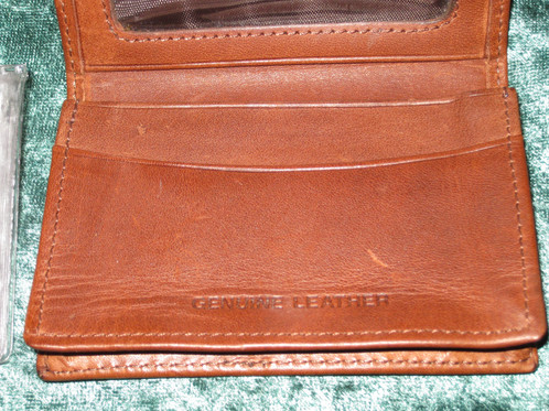 Nra leather wallet id case business card holder brushpile nra wallet ccw card holder etc 4 x 2 12 x 12 unknown manufacturer or age one of a kind comes with its own box and sleeve reheart Gallery