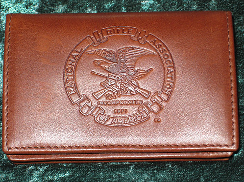 NRA Leather Wallet, ID case, Business card holder