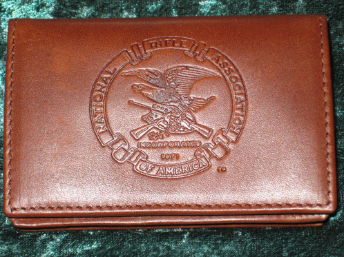 Nra leather wallet id case business card holder brushpile nra leather wallet id case business card holder reheart Gallery