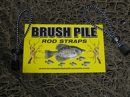 REFLECTIVE Brush Pile Rod Straps-Black