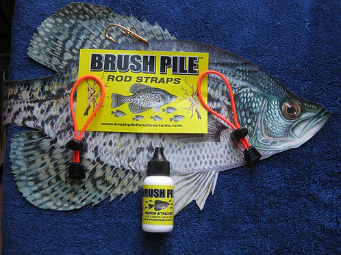 Brush Pile Panfish Attractant HunterOrange Rod Straps Hat Hook