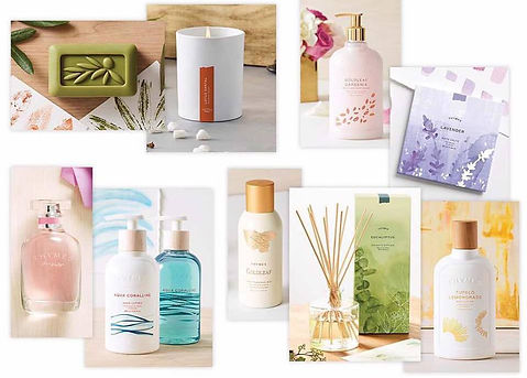 thymes bath and body products