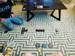 When you want to play Betrayal at House on the Hill, but there are only two of you... You each play