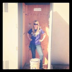 Standing inside #GC4WM7Y S_W_A_G's TINY TB HOTEL while visiting Yuma, AZ for S_W_A_G's Yuma Mega #12