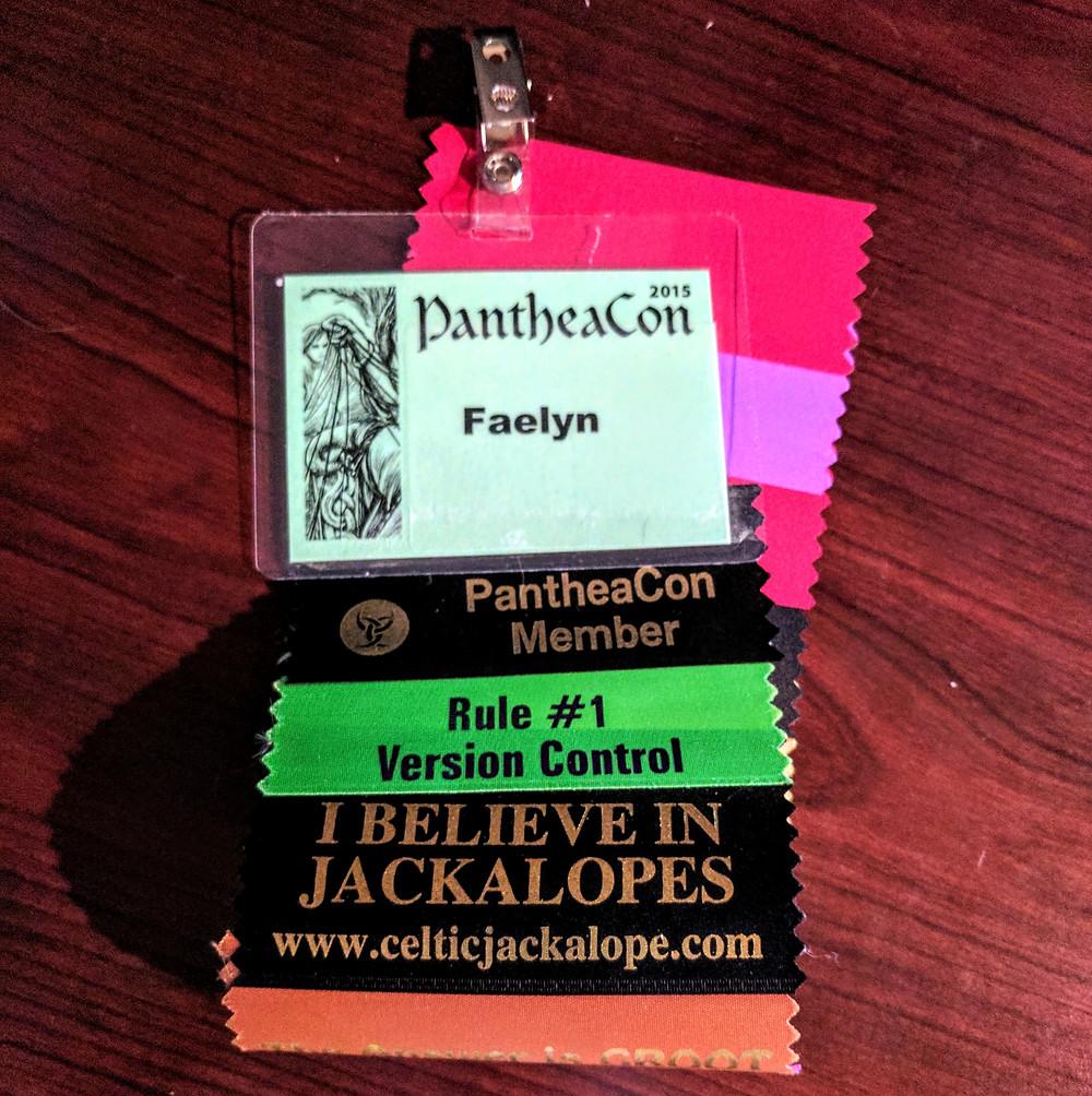 PantheaCon 2015 Name Badge