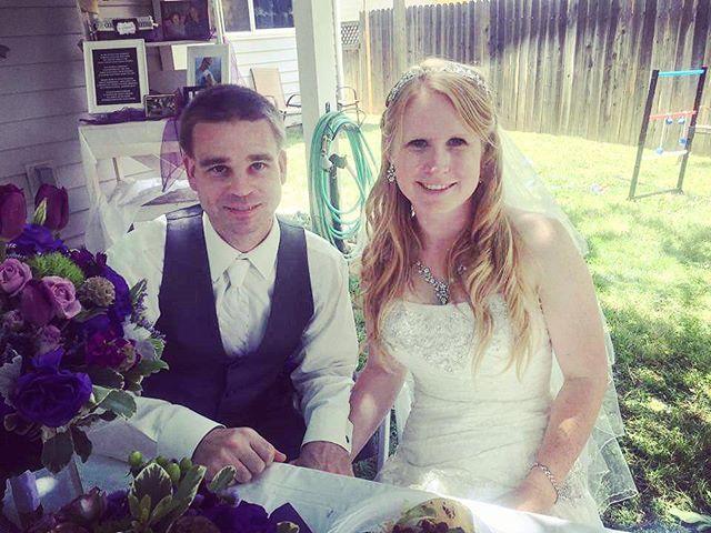 #weddingday #mrandmrs #weremarried! #aprilmike61116