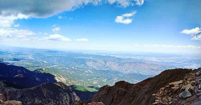 Up on Pike's Peak #geocaching #roadtrip #honeymoon
