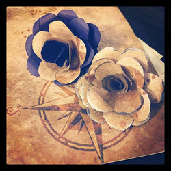 Playing around with Paper. Making paper flowers that I will potentially use for my wedding in June