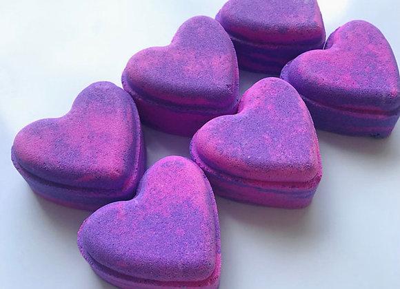 Parma Passion Love Heart Bath Bomb - Parma Violet