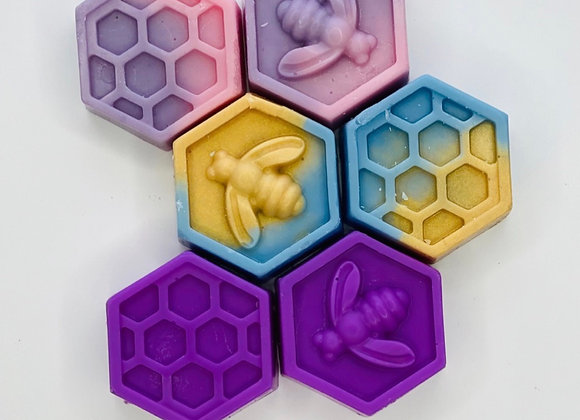Bees & Honeycomb Shape Wax Melts - Pack of 2