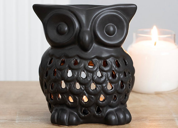 Black Owl Tealight Burner