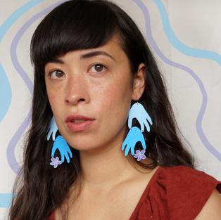 Sumire Layered Hand Earrings
