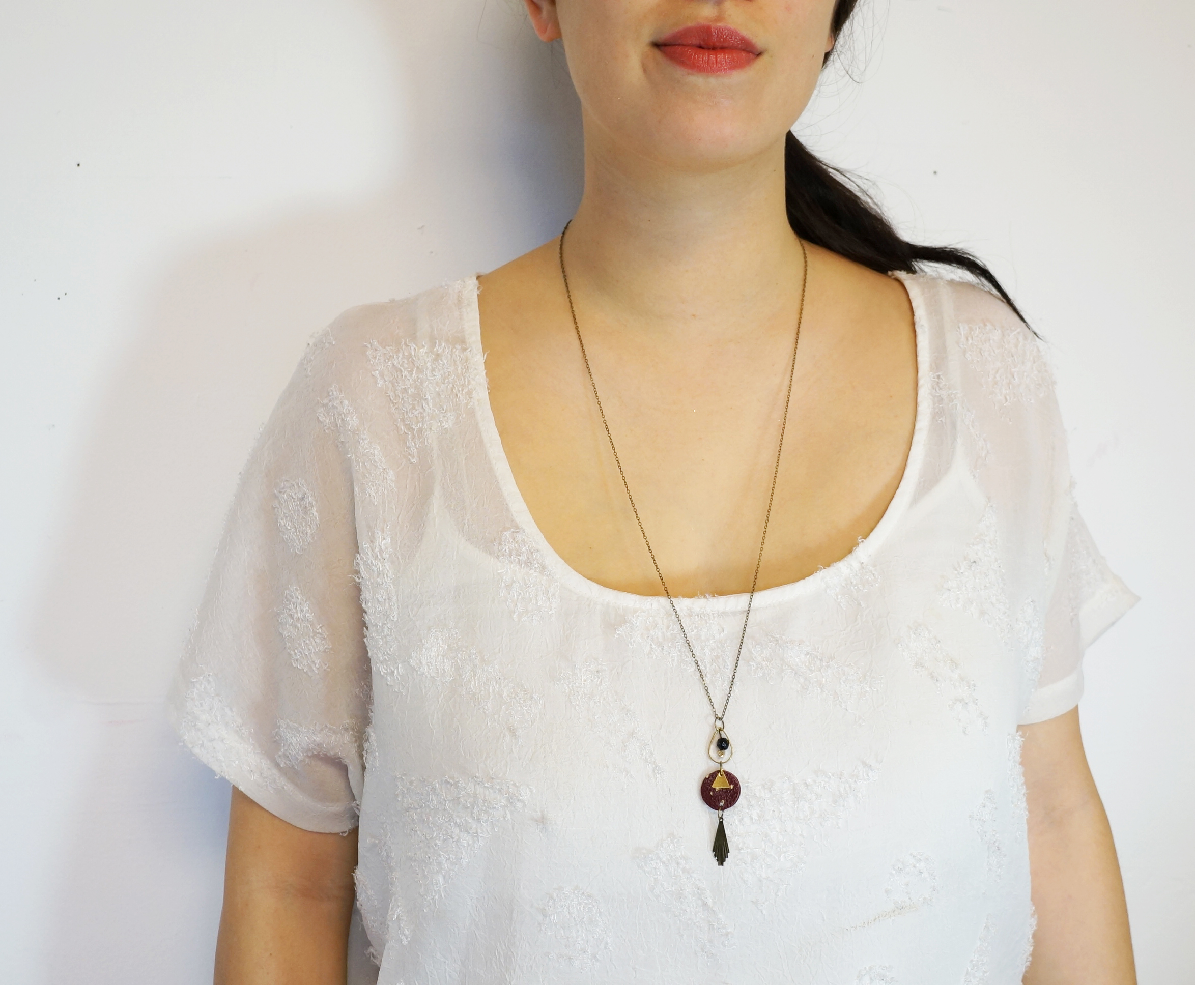 Gypsy Teardrop Pendant Necklace