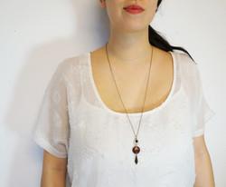 Gypsy Teardrop Pendant Necklace