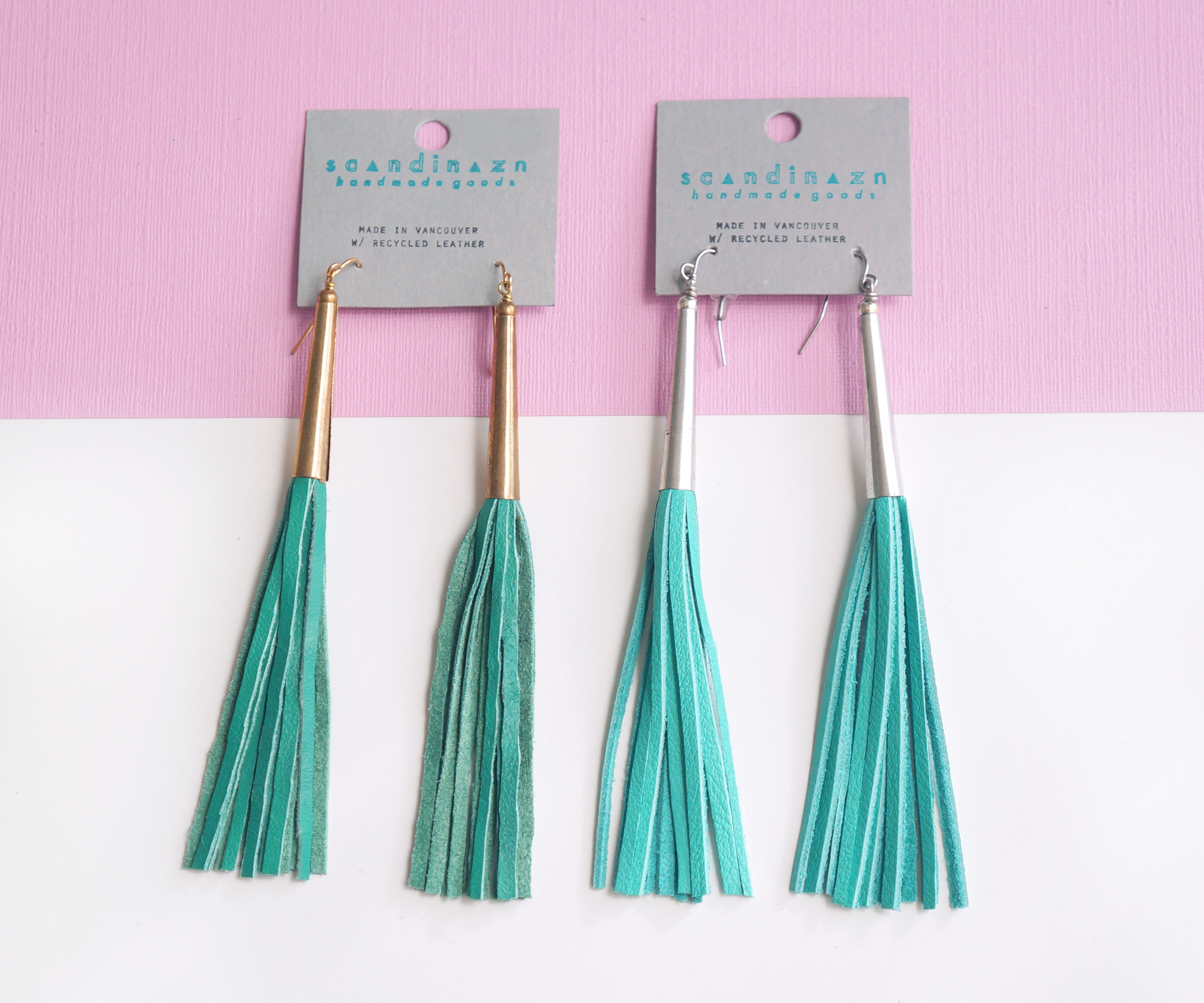 Cone-Capped Tassel Earrings