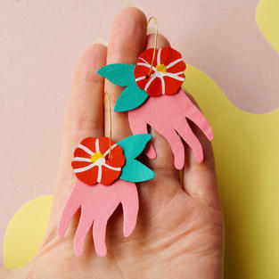Tsubaki + Hand Earrings