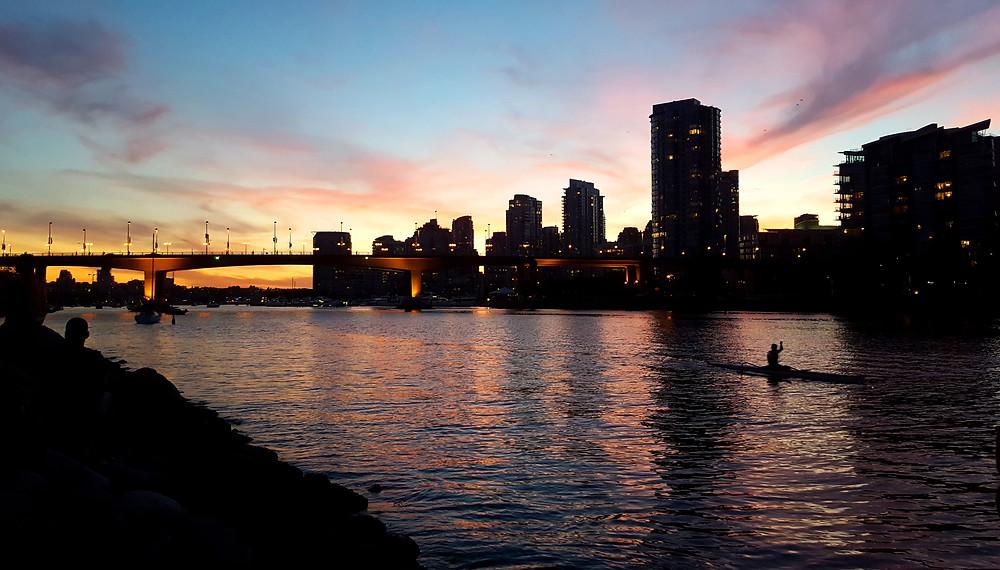 Vancouver cityscape sunset