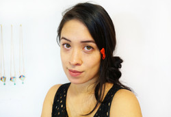 Recycled Leather Bow Hairpin