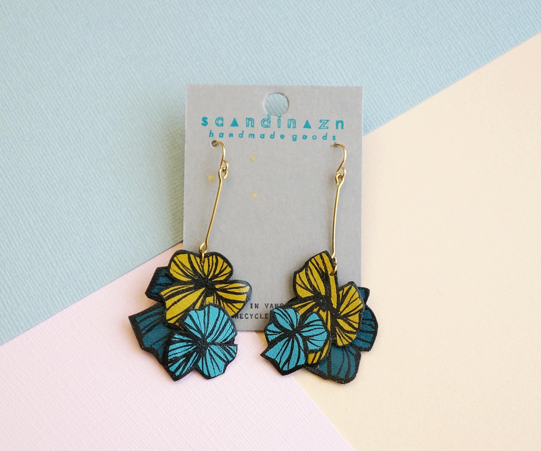 Layered Hana Burst Earrings