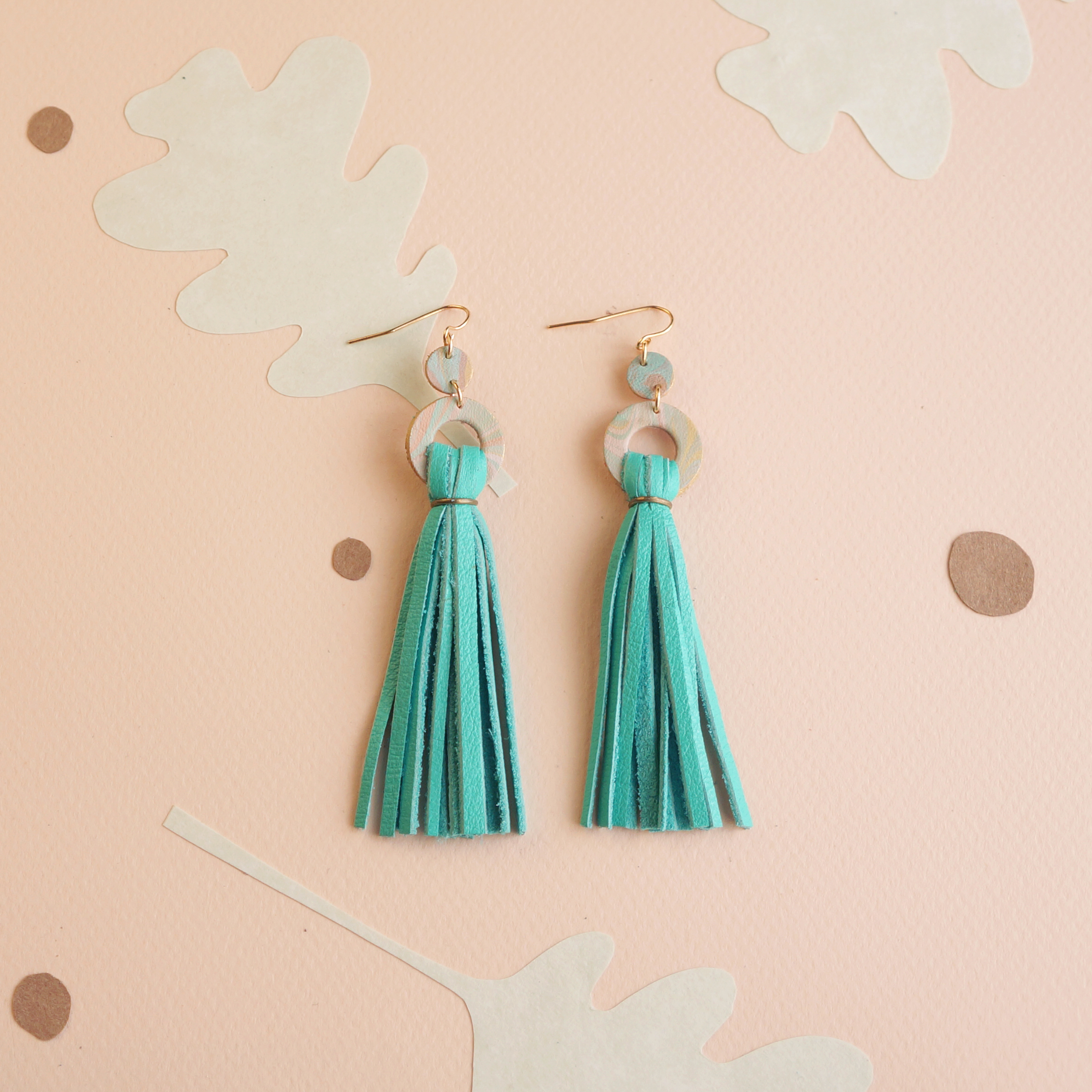 Patterned Circle Tassels
