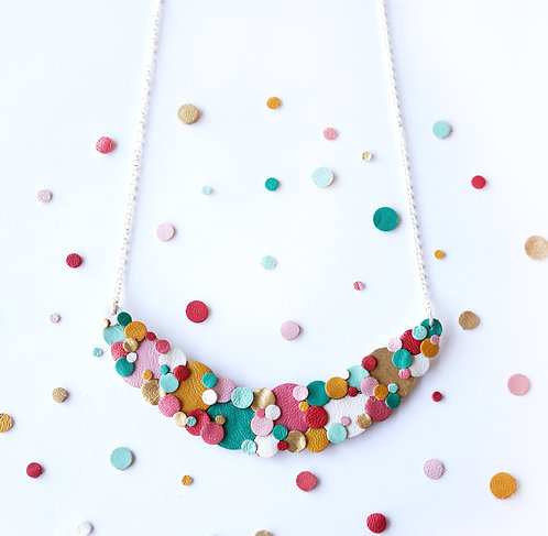 Rainbow Confetti Spotted Necklace
