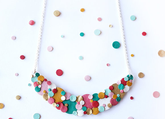 WS- Rainbow Confetti Spotted Necklace