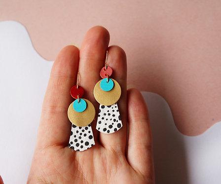 Layered Orb Earrings