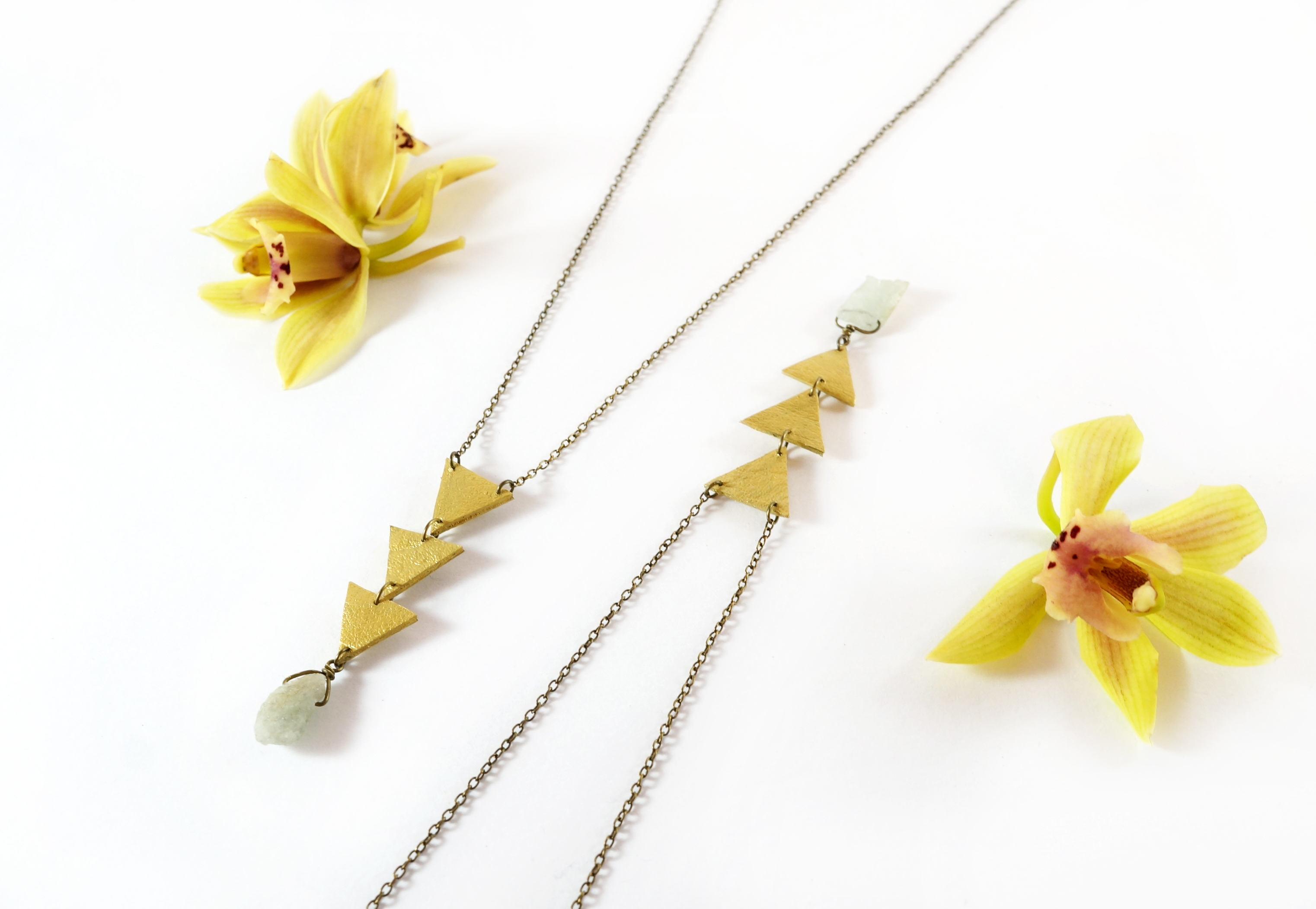 Golden Arbour & Aquamarine Necklace