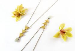 Golden Arbour & Aquamarine Necklace