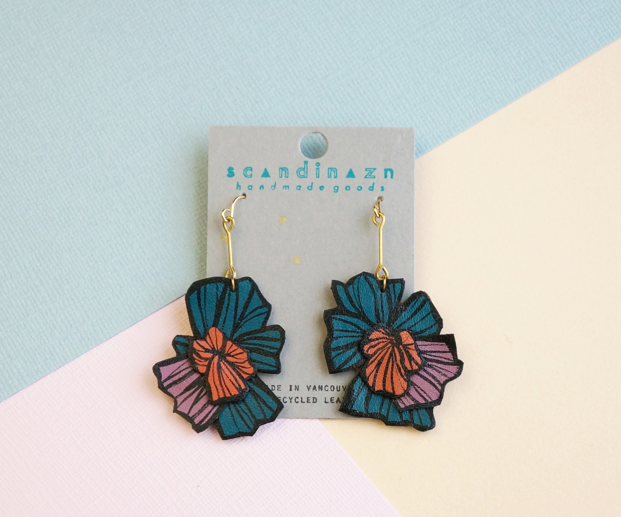 Layered Hana Burst Earrings