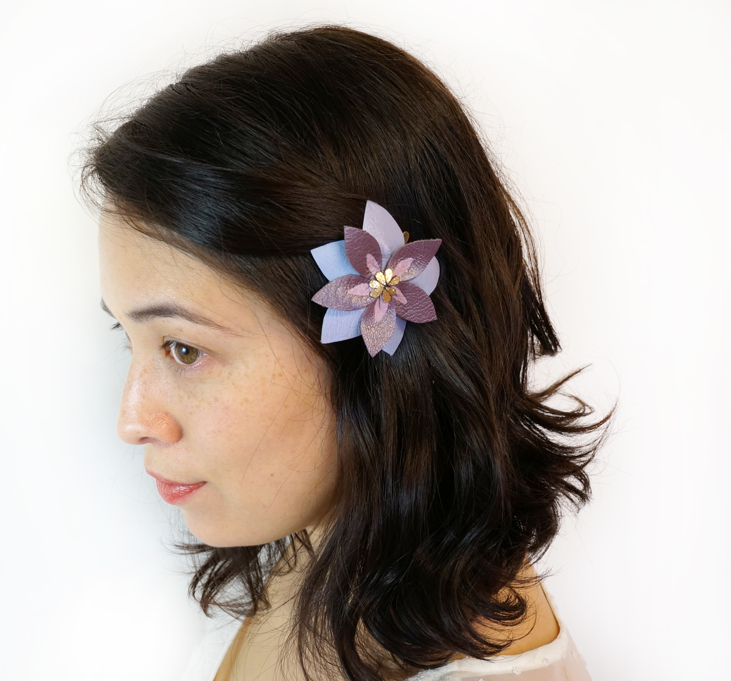 Purple Tibouchina Flower Hair Clip