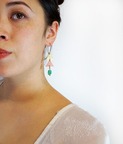 Tiered Arbour Earrings with Howlite