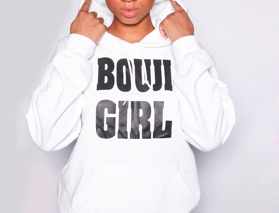Bouji Girl Hoodie closeup - Bouji Society Fashion and Clothing - www.boujisociety.com