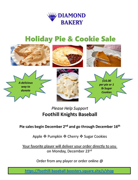HOLIDAY PIE & COOKIE SALE