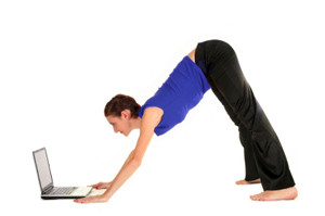 Fig 4: Downward Dog Pose: It's a great exercise, but you're not supposed to do this for the whole day!!