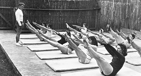 Fig 2: Early Pilates Class with Joseph Pilates