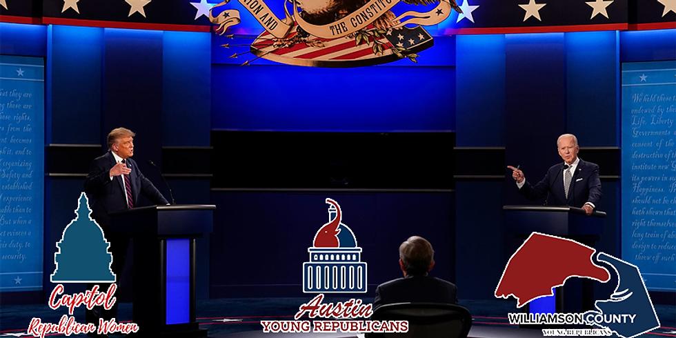 Presidental Debate Watch Party w/ Capitol Republican Women & Wilco YRs @ Pinballz Lake Creek