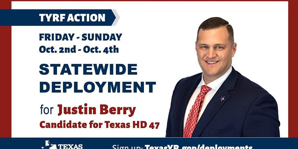 Texas YR Deployment for Justin Berry