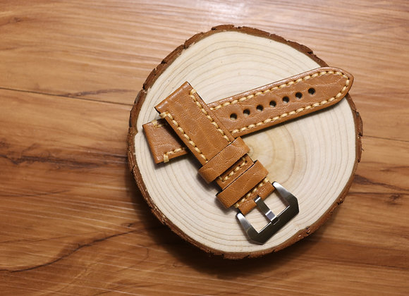 Textured Leather Watch Strap