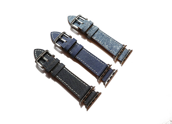 Apple Watch Denim Leather Strap