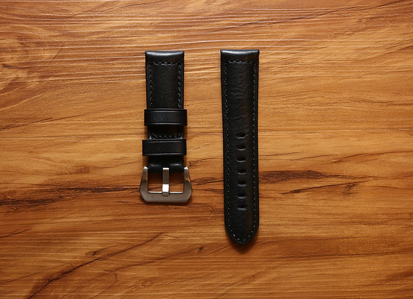 Black Stitching Leather Strap