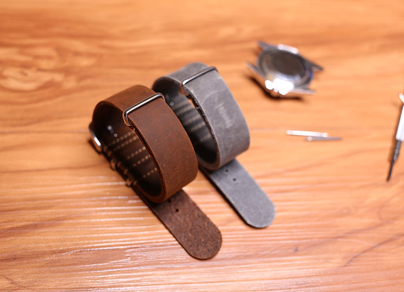 Vintage Leather NATO Strap