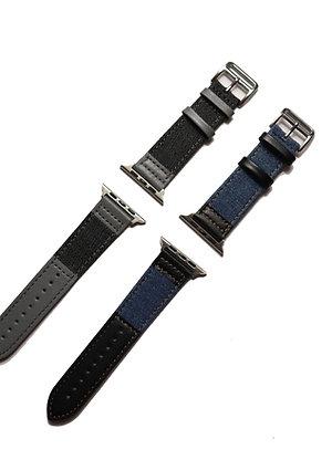 Apple Watch Denim Leather Matching Strap