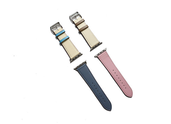 Apple Watch Girth Buckle Leather Strap (Cream)