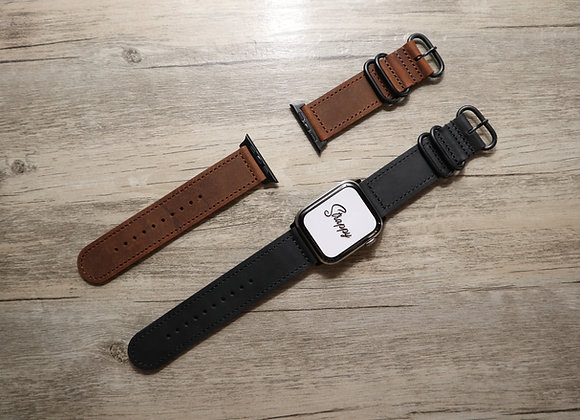 Apple Watch Two Piece Classic ZULU Leather Strap